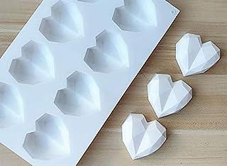 Perfect Pricee 8-Cavity Mini Pinata Diamond Heart Cake Mould, Soap Mould Flexible Mould Silicone Mould for ice Lattice Tra...