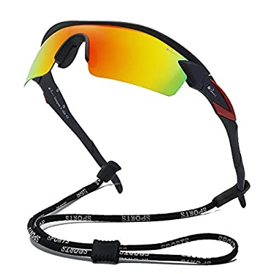 Bevi Polarized Sports Sunglasses TR90 Unbreakable Frame for Men Women Running Cycling Fishing Golf Baseball TPH2C1