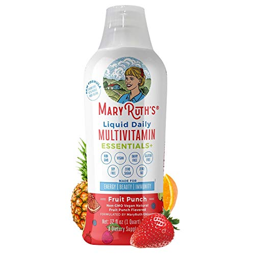 Morning Liquid Multivitamin + Zinc + Elderberry + Organic Whole Food Blend by MaryRuth's (Fruit...