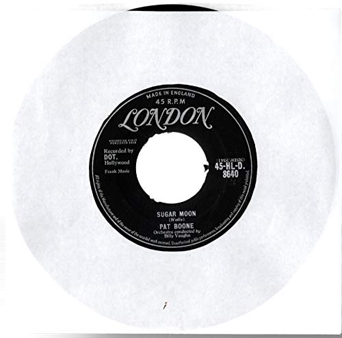 "Pat Boone - Sugar Moon / Cherie, I Love You - 7"" Single 1958 - London Records 45-HLD 8640 - UK Press"
