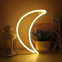 ネオンサイン LED ネオンライト アート 装飾ライト 壁装飾 子供部屋 ベビールーム クリスマス ウェディング パーティー デコレーション YN-Sign-Yellow Moon