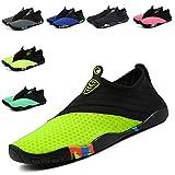 Fadezar Water Shoes Women Men Quick-Dry Aqua Socks Slip-On Barefoot Beach Swim Shoes for Pool Boating Diving Surfing Yoga Sport Bright Green 6.5 Women/5 Men