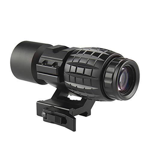 Ran\'s L Airsoft Visier 3X Magnifier Sight Scope mit Flip bis zur Seite 3X Lupe Weaver Montage 20mm CJ/MZJ-05