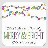 Etiquetas cuadradas para etiquetas de Navidad, 5,5 x 5,8 cm, etiquetas de vinilo para negocios, bodas, fiestas de cumpleaños, regalos, set de 30