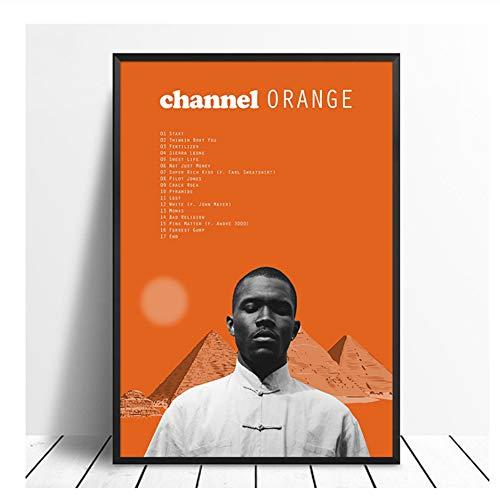 Frank Ocean - Channel Orange Album Pop Music cover Music Star Poster Canvas Prints Arte de pared para sala de estar Decoración para el hogar-50x70cm Sin marco