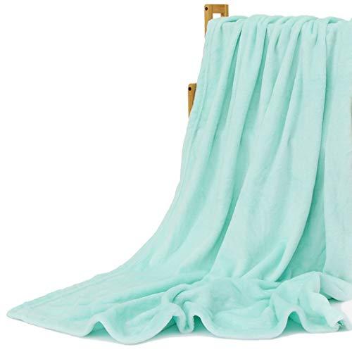 LYQZ Weich Super Soft Blanket Single Double Blanket Home Office Mittagspause Vier Jahreszeiten Universal Cover Handtuch Decke (Color : Green, Size : 150 * 200cm)