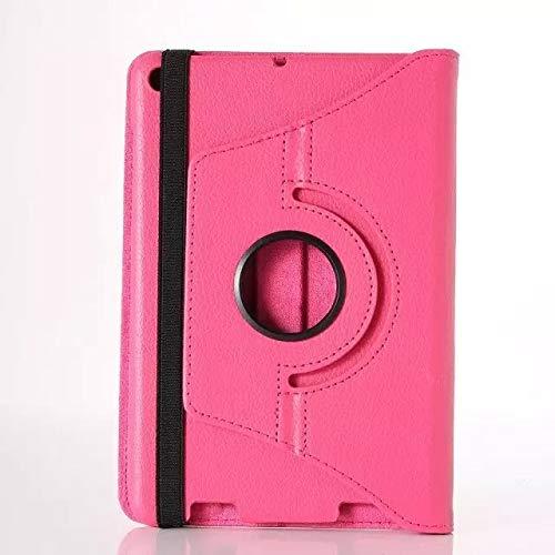 QiuKui Tab Funda para Xiaomi MIPAD 2 MI Pad 2, 360 Grados de Tableta de Tableta Rotación Smart Flip Stand PU Case para Xiaomi MIPAD 2 360 (Color : Rose)