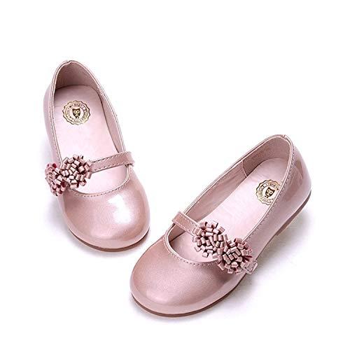 Niña Los Zapatos De Cuero Flor Banda Elástica Zapatos De Princesa Fondo Blando Zapatos Solos Partido Regalo