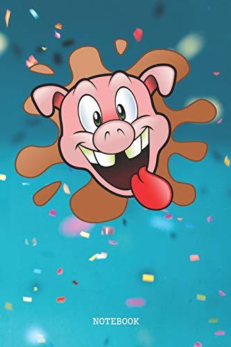 Notebook: Funny Cartoon Pig Head Piglet - Piggy Planner /...