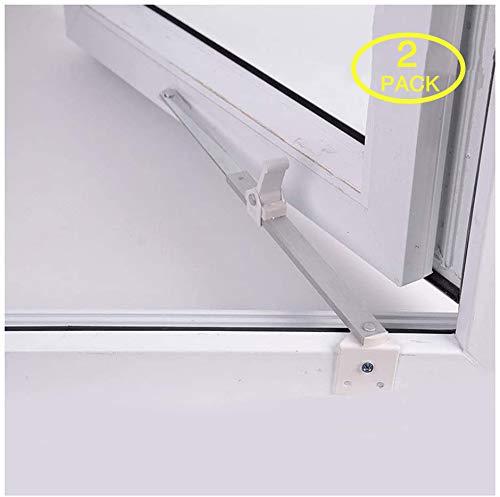 CGC8 Fensterbegrenzer Türöffnungsbegrenzer Für PVC-U-, Aluminium-, Fenster- Und Terrassentüren, 2 Stück