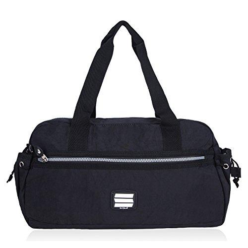 Suvelle Small Duffle-Borsa da viaggio, borsa da palestra#2067, Multicolore (nero), Taglia unica
