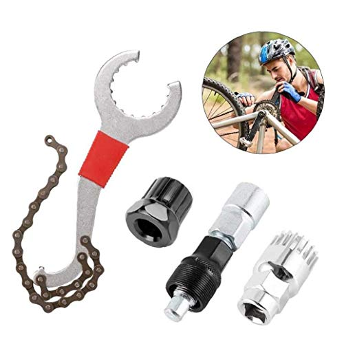 4 Reparación Piezas De Bicicletas Kit De Reparación De Herramientas, Bicicletas Multifuncional...