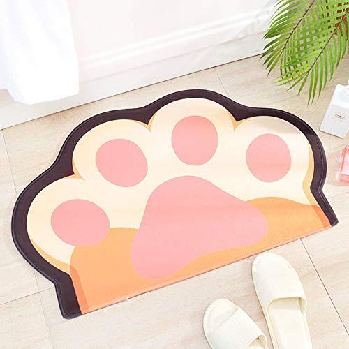 QYT-Alfombra De Baño Cocina Mascota Alfombrilla De Baño Antideslizante Multifuncional Felpa Suave Cómoda Y Súper Absorbente 50 x 80 cm,D