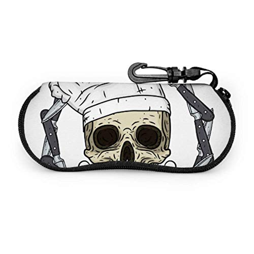 Cartoon Skull Toque Knife Best Sunglass Case Case Glasses Men Light Portable Neoprene Zipper Soft Case Unique Eyeglass Case