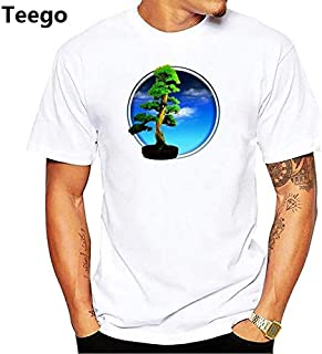 Peace Design Bonsai Art Tshirt Men jollypeach White Casual t Shirt Homme Comfortable Skin Friendly Plus Size t-Shirt : pn1985, Men XXL