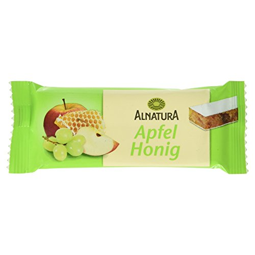 Alnatura Bio Apfel-Honig-Fruchtriegel, 16er Pack (16 x 40 g)