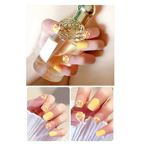 JIN HUA-fake nails 24 Stücke in einem Kasten Künstliche Nägel Sommer frisches Obst Grün mit Perlen Dekoration Medium Rechteckige Kopfnägel (Color : G)
