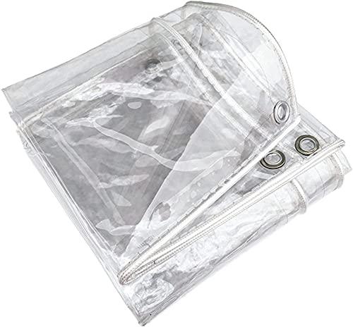 WHCQ Toldo Lona Alquitranada Tela Exterior Protector,Lona Plástico PVC Transparente Resistente A Lluvia, para Balcón o Ventana Aislamiento Frente Al Frío para Flores