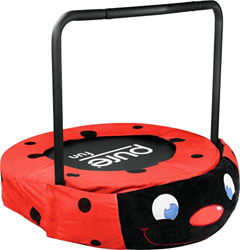 Pure Fun 9024LB 36 in. Plush Jumper Kids Trampoline with Handrail - Ladybug
