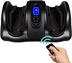Best Choice Products Therapeutic Shiatsu Foot Massager Kneading and Rolling for Foot, Ankle, Nerve Pain w/ Handle, High Intensity Rollers, Remote Control, LCD Screen, 3 Massage Modes - Black