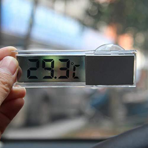 lamta1k Autothermometer mit LCD-Digitalanzeige, Saugnapf für Auto, Zuhause, Raumtemperatur-Thermometer