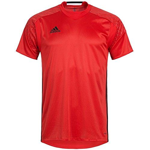 adidas Herren Shirt Goalkeeper Jersey Torwart Trikot Adizero (rot-schwarz, 7 (52) M/L)