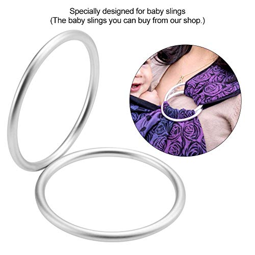 Baby Infant Sling Ring Aluminium Wrap Rings Carrier Ring Accessory for Newborn Kids Baby Sling Rings for Baby Carriers & Slings