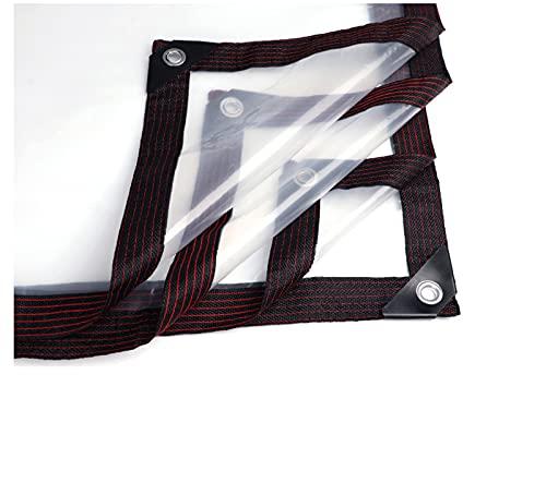 Lona con ojales, borde de costura, resistente a los rayos UV, impermeable, cubierta de polietileno transparente, para tienda de campaña, versatilidad para ocultar la protección o cubrir,4 x 6 m