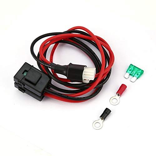 Durable 1M 30A zekering 6-PIN korte golf netkabel kabel voor Yaesu FT-857D FT-897D anti-oxidatie verlengkabel - zwart & rood