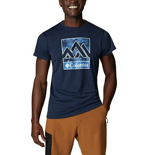Columbia Zero Rules, Camiseta de manga corta, Hombre,Azul (Collegiate Navy),M