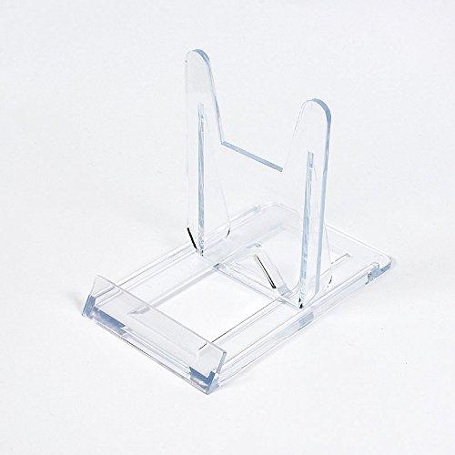 Großer Schiebeständer / Tellerständer / Tellerhalter - Ständer / Halter für Handy, CD, Bluray, Steelbox, Steelbook, Buch, 2-teilig, Größe: 60 x 100 mm, Höhe 80 mm, 10 Stück in einem Karton