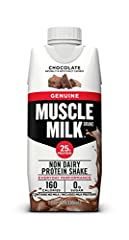 EVERYDAY PERFORMANCE   MUSCLE MILK GENUINE Protein Shakes include a blend of high quality proteins that help fuel workout recovery, provide sustained energy and help build strength in a gluten free formula WORKOUT; RECOVER; MOVE FORWARD; MOVE FAST;  ...