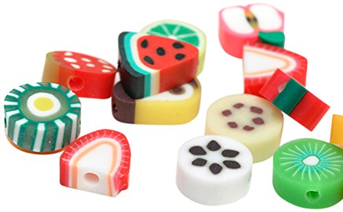 Multi-Color 20 Unidades Beads Unlimited 1012 x 5 mm Otras Frutas Arcilla de polim/érica Mix