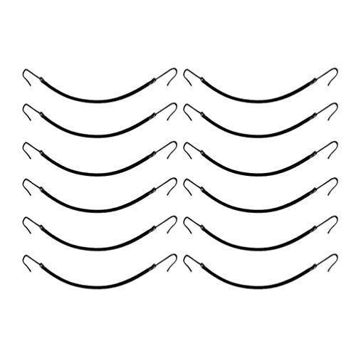 SOLUSTRE 12 Stück Haarstyling Pferdeschwanz Haken Bungee Haargummis Haargummis für Pferdeschwänze (Schwarz)