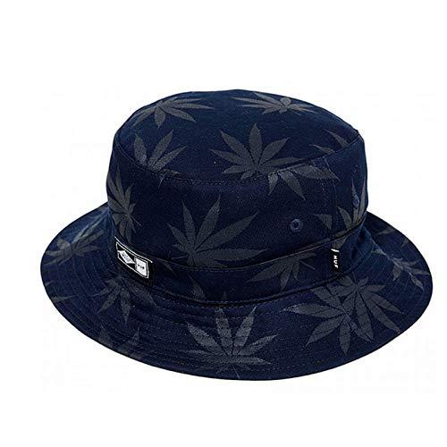JXFM Zomer hennep blad print wilde visser hoed vouwen wastafel cap