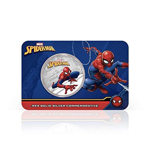 IMPACTO COLECCIONABLES Spider-Man Marvel Offizielle Gedenkmünze - Reines Silber 32mm