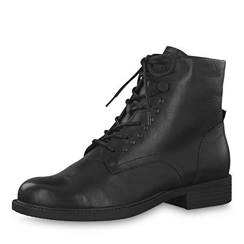 Tamaris Damen Stiefeletten 26285-23, Frauen Schnürstiefelette, Women Woman Freizeit leger Stiefel Chukka Boot halbstiefel Bootie,Black,38 EU / 5 UK