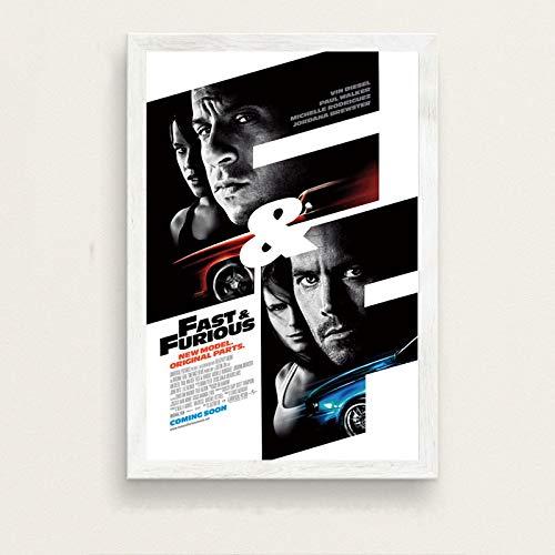 Película clásica Rápido y furioso Paul Walker Vin Diesel Imagen Arte de la Sala de Estar Decoración de la Pared Cartel de Pintura en Lienzo para el hogar 50x70cm K-328