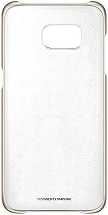 Samsung Clear Cover - Funda para Samsung Galaxy S7 Edge, transparente con esquinas metálicas