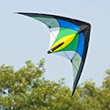CIM Lenkdrachen – 1-2-SEVEN Cool – Drachen für Kinder ab 8 Jahren, fliegt in einem extrem großen Windbereich – Abmessung: 104x52cm – inkl. Steuerleinen mit Gurtschlaufen