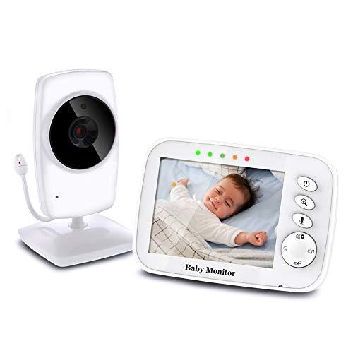 TOPERSUN Vigilabebés Inalámbrico Monitor de Bebé Inteligente con Pantalla LCD 3.2
