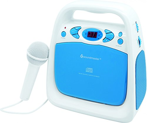 Soundmaster KCD50BL Draagbare Sing a Long CD/USB speler met radio