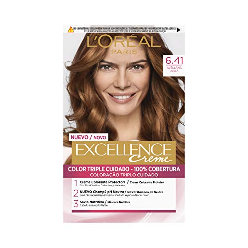 L'Oréal Paris Excellence Coloración Crème Triple Protección, Tono: 6.41