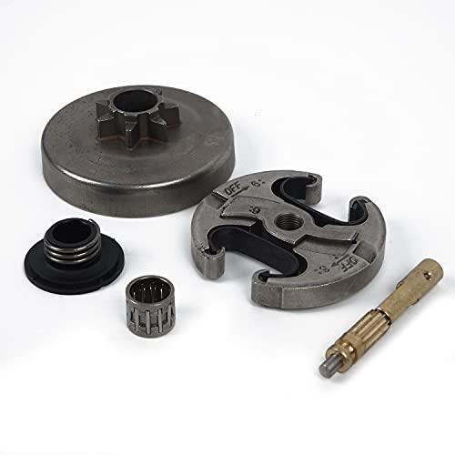 LIBEI Pieza de reparación de Motosierra Original .325'7T Kit de Engranaje helicoidal de Bomba de Aceite de Tambor de Embrague para Motor de Motosierra Husqvarna 340, 345, 350, 445, 450