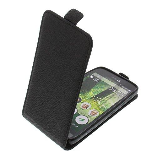 foto-kontor Tasche für Doro Liberto 825 Smartphone Flipstyle Schutz Hülle schwarz