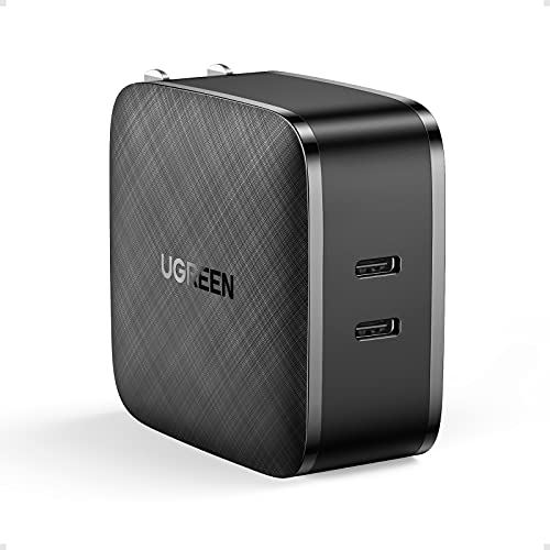 UGREEN USB C Charger 66W Foldable Wall Charger - 2-Port PPS Fast Charger Adapter Compatible with MacBook Pro/Air, iPad Pro, iPhone 12 Mini Pro Max XR SE, Galaxy S21+ S20 S10 Note 20, Pixel and More