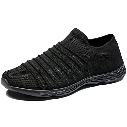 Zapatillas Casuales para Hombre Calzado Deportivo Bajas de Moda Sandalias de Verano Ligeras y Transpirables Todo Negro 44