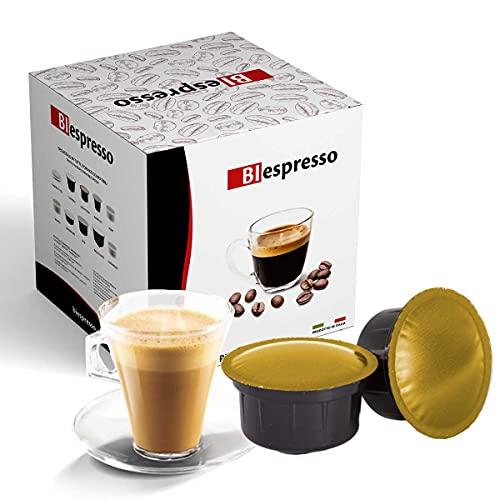 Biespresso, Capsule Compatibili Caffitaly, Espressino Cortado, 50 Capsule + Kit Accessori (Palette e Bicchieri)
