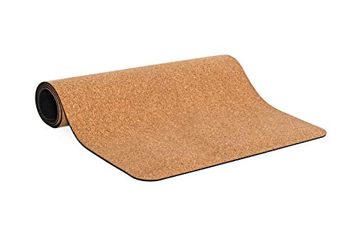 Zenzara - Esterilla de yoga de corcho de alta calidad y caucho natural, antideslizante, para deportes, fitness, pilates, gimnasia