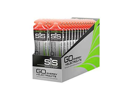 Science in Sport Energy Gel Pack, SIS Isotonic Energy Gel, 22g Fast Acting Carbs, Performance & Endurance Gels, Salted Strawberry Flavor - 2 Oz. (30 Pack)